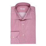 ISAIA // Angelo Polka Dot Dress Shirt // Wine (US: 15R)