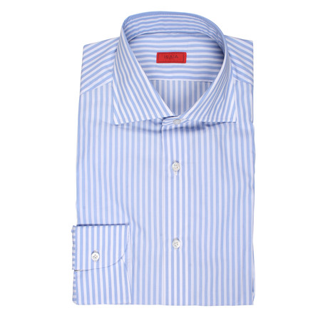 Valachi Striped Dress Shirt // Blue (US: 15R)