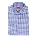 Isaia // Lanza Checkered Dress Shirt // Blue (US: 16.5R)