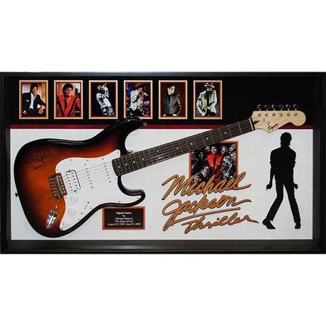Signed + Framed Guitar // Michael Jackson