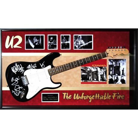 Signed + Framed Guitar // U2