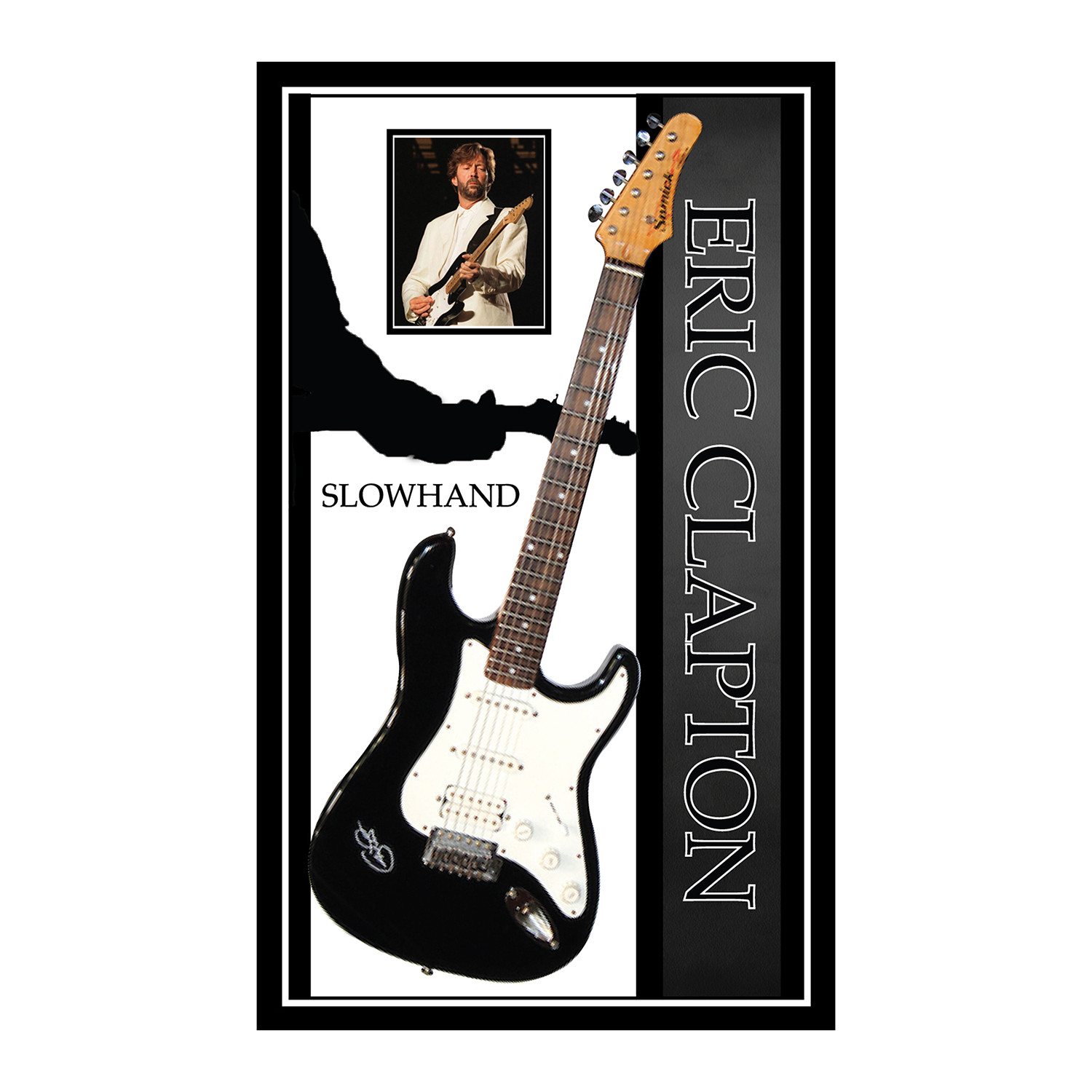 signed framed guitar eric clapton autographed guitar rock and roll memorabilia touch of. Black Bedroom Furniture Sets. Home Design Ideas