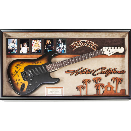Signed + Framed Guitar // The Eagles