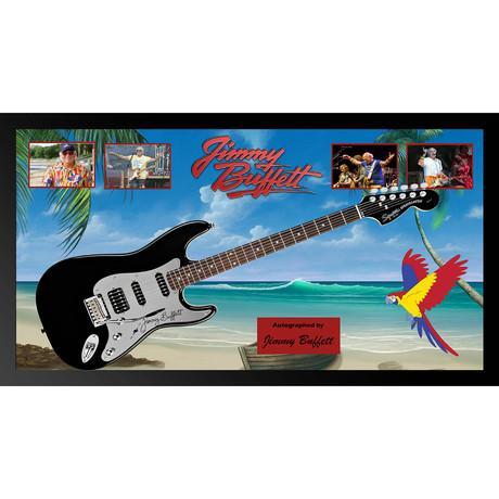 Signed + Framed Guitar // Jimmy Buffett