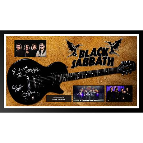 Signed + Framed Guitar // Black Sabbath