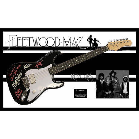 Signed + Framed Guitar // Fleetwood Mac