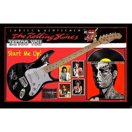 Signed + Framed Guitar // The Rolling Stones