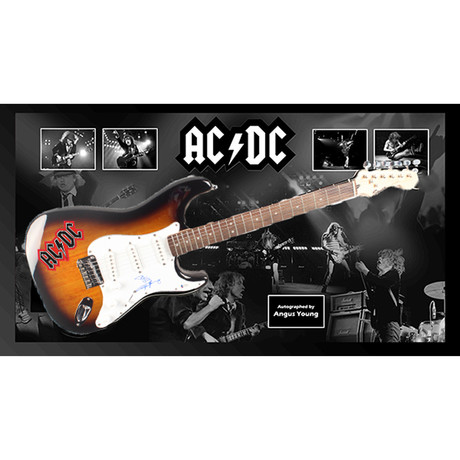 Signed + Framed Guitar // Angus Young