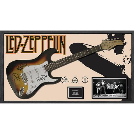 Signed + Framed Guitar // Led Zeppelin