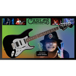 Signed + Framed Guitar // Carlos Santana