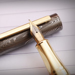 Damascus Fountain Pen // 8002