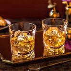 Luna Crystal Whiskey Glasses // Set of 4