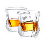 Aurora Crystal Whiskey Glasses // Set of 4