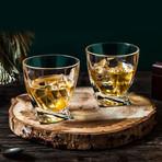 Atlas Crystal Whiskey Glasses // 10.8 oz // Set of 4
