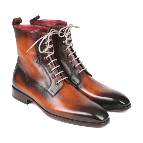 Burnished Leather Lace-Up Boots // Brown (Euro: 37)