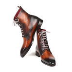 Burnished Leather Lace-Up Boots // Brown (Euro: 44)