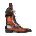 Burnished Leather Lace-Up Boots // Brown (Euro: 45)