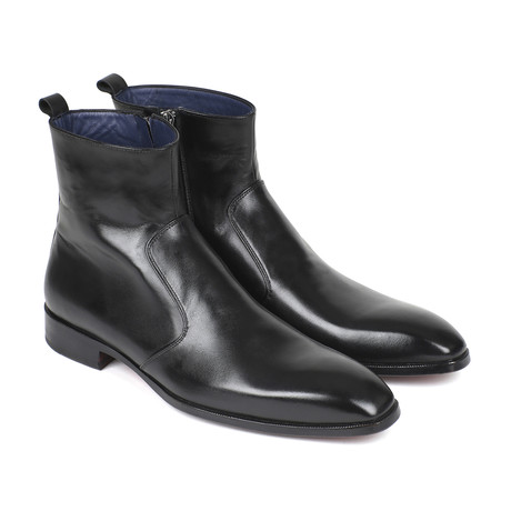 Leather Side Zipper Boots // Black (Euro: 37)