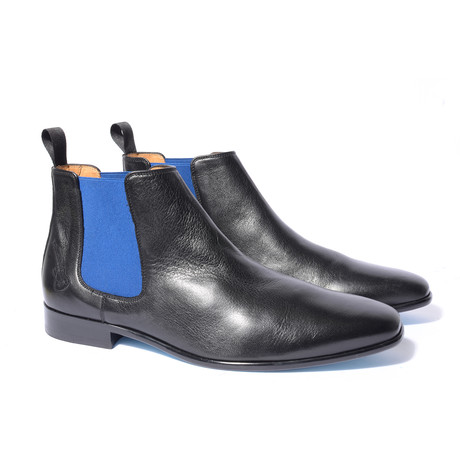 Iggy Shoe // Black + Royal Blue (Euro: 40)
