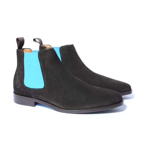 Johnny Shoe // Dark Brown + Turquoise (Euro: 40)
