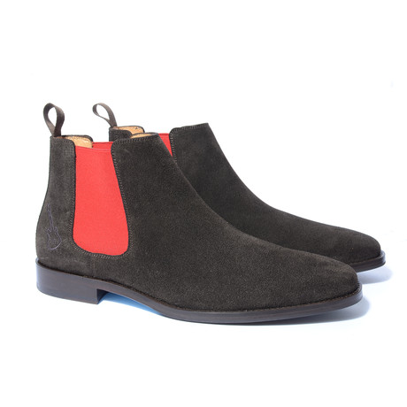 Johnny Shoe // Dark Brown + Red (Euro: 40)