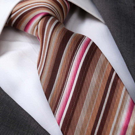 Ercole Silk Tie // Multi Color Stripes
