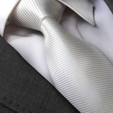 Emilio Silk Tie // White