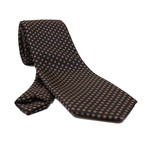 Bonavento Silk Tie // Brown Checkered