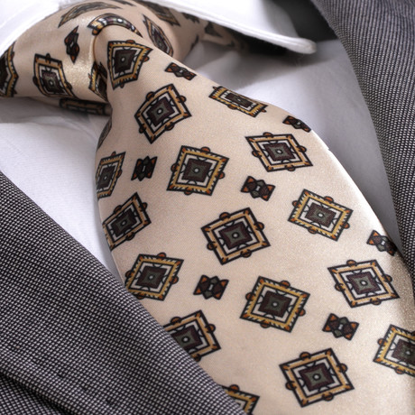 Arsenio Silk Tie // Cream