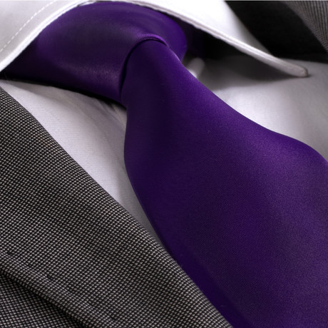 Alessandro Silk Tie // Solid Purple