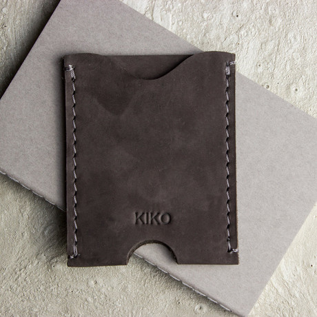 Double Sided Card Case // Brown