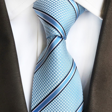 Spring Tie // Light Blue Stripe
