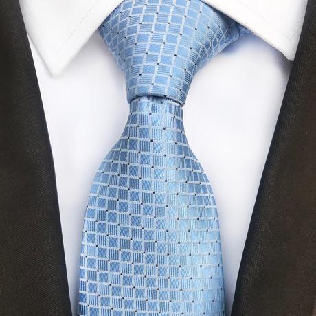 Len Square Design Silk Tie // Sky Blue