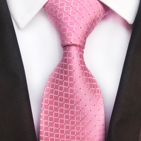 Mitchel Design Silk Tie // Pink