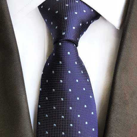 Harry Mini Dot Silk Tie // Navy