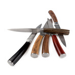 Exotic Woods Steak Knives Set + Bamboo Box // 6 Pieces
