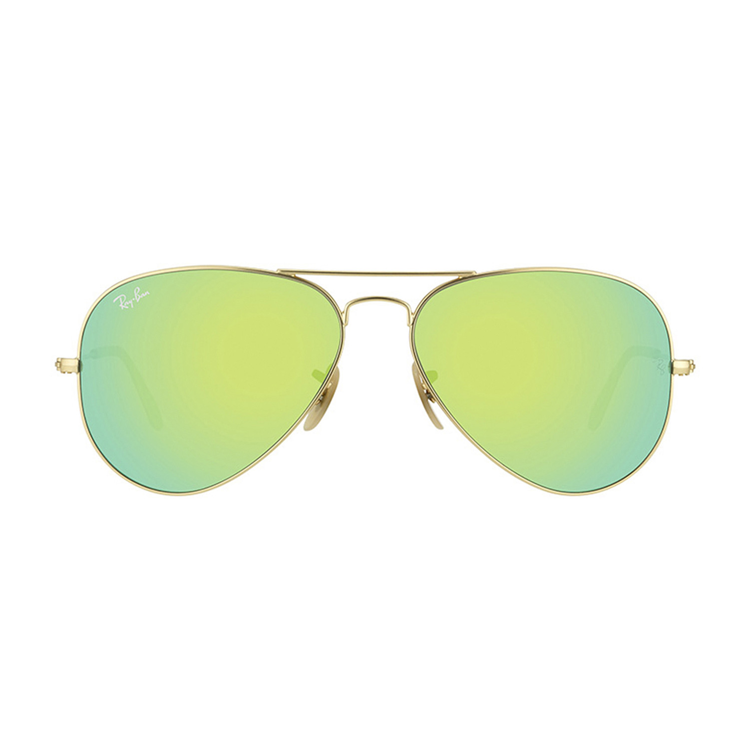 013d150802d F084a953dd512b9ad82c510a1bb271b6 medium · Ray-Ban    Men s Large Metal  Aviator Sunglasses    Matte Gold + Green