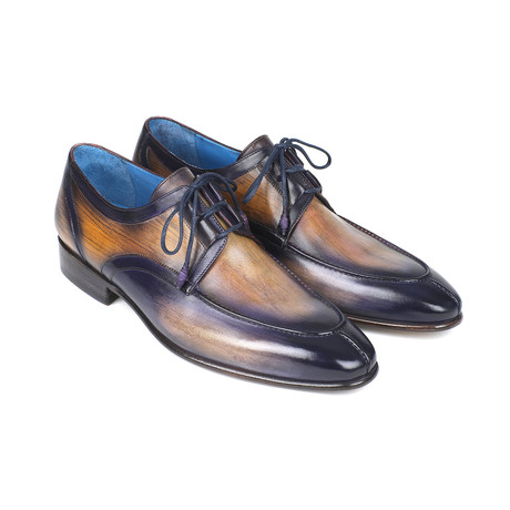 Ghillie Lacing Dress Shoes // Camel + Purple (Euro: 38)