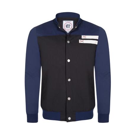 Schott Coat // Black + Navy (S)