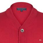 Dewayne Knitwear Jacket // Bordeaux (S)