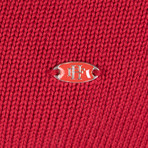 Dewayne Knitwear Jacket // Bordeaux (XS)