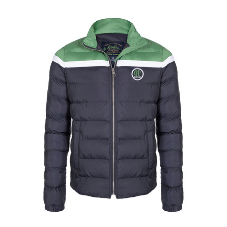 James Coat // Navy + Green (XS)