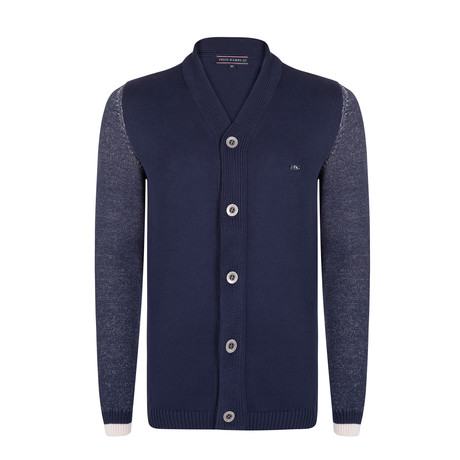 Albert Knitwear Jacket // Navy (XS)