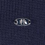 Albert Knitwear Jacket // Navy (L)