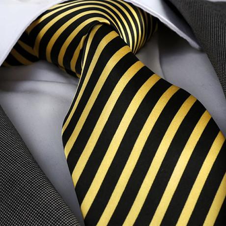 Salvatore Silk Tie // Yellow + Black