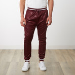 Two-Toned Camo Track Pants // Burgundy Camo (L)