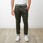 Two-Toned Camo Track Pants // Military Green Camo (M)