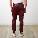 Two-Toned Camo Track Pants // Burgundy Camo (S)