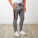 Tri-stripe Track Pants // Gray (L)