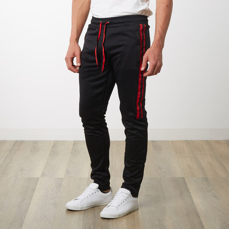 Tri-stripe Track Pants // Black (S)